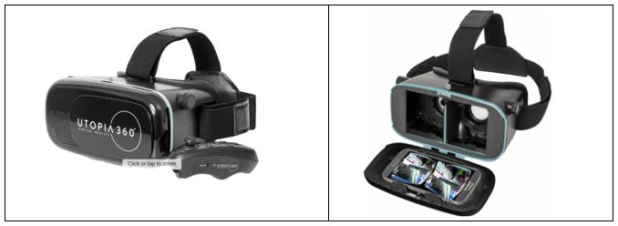 2e4f83bc5 Headset / Brýle pro virtuální realitu včetně bluetooth dálkového ovládání